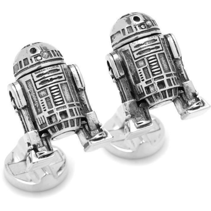 Star Wars R2D2 3D Antique Moving Head Cufflinks, Novelty Cufflinks, Cuffed.com.au, CL5900, $120.00