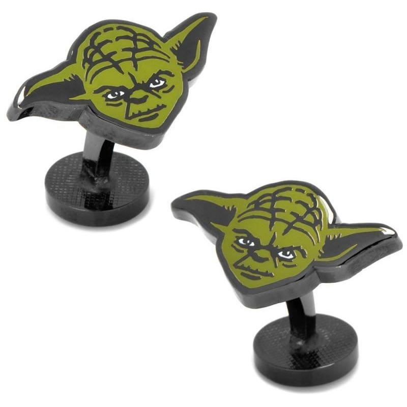 Star Wars Yoda Colour Cufflinks, Novelty Cufflinks, Cuffed.com.au, CL5894, $69.00