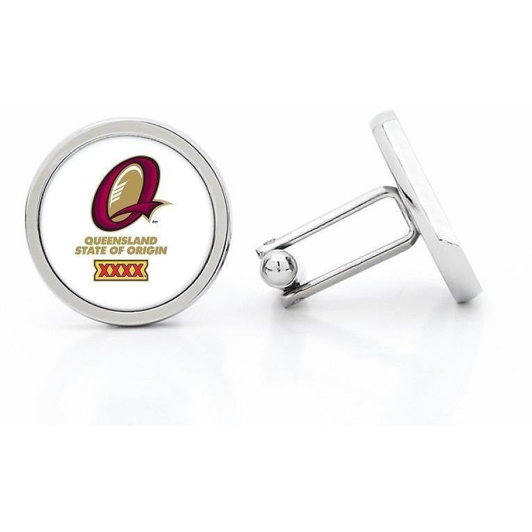 State of Origin QLD Maroons Cufflinks, Novelty Cufflinks, Cuffed.com.au, CL5202, $29.00