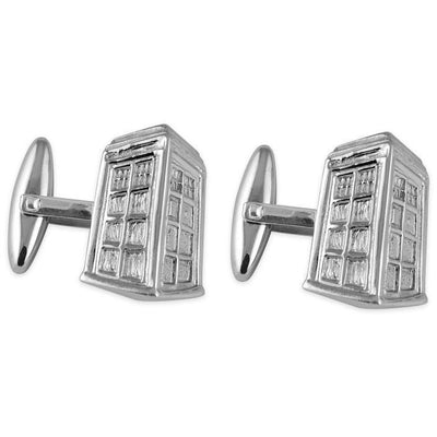 Sterling Silver Doctor Who Tardis Cufflinks Clinks Australia