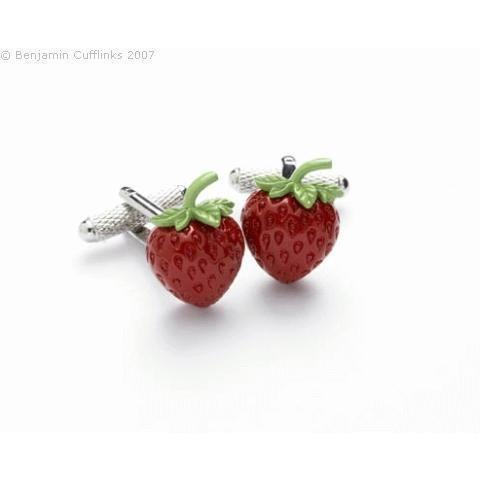 Strawberry Cufflinks, Novelty Cufflinks, Cuffed.com.au, ZBC2822, $38.50