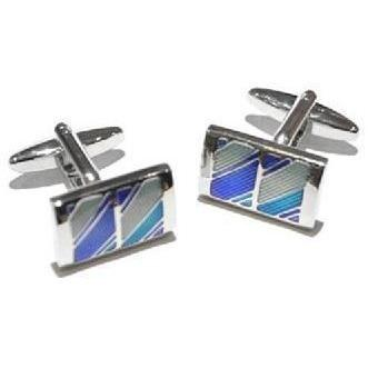 Striped Windows Blue and Green Cufflinks Classic & Modern Cufflinks Clinks Australia Striped Windows Purple and Green Cufflinks