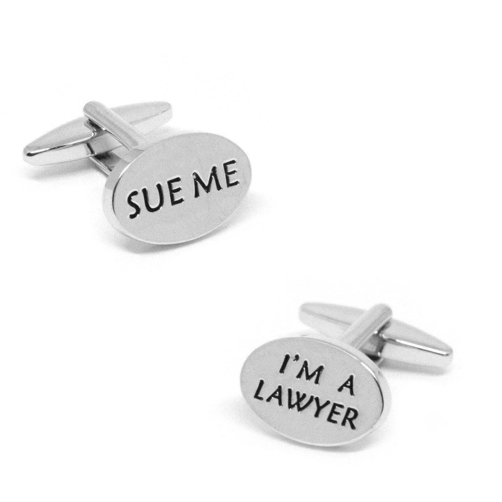 """Sue Me, I'm a Lawyer"" Cufflinks, Novelty Cufflinks, Cuffed.com.au, CL9194, $29.00"