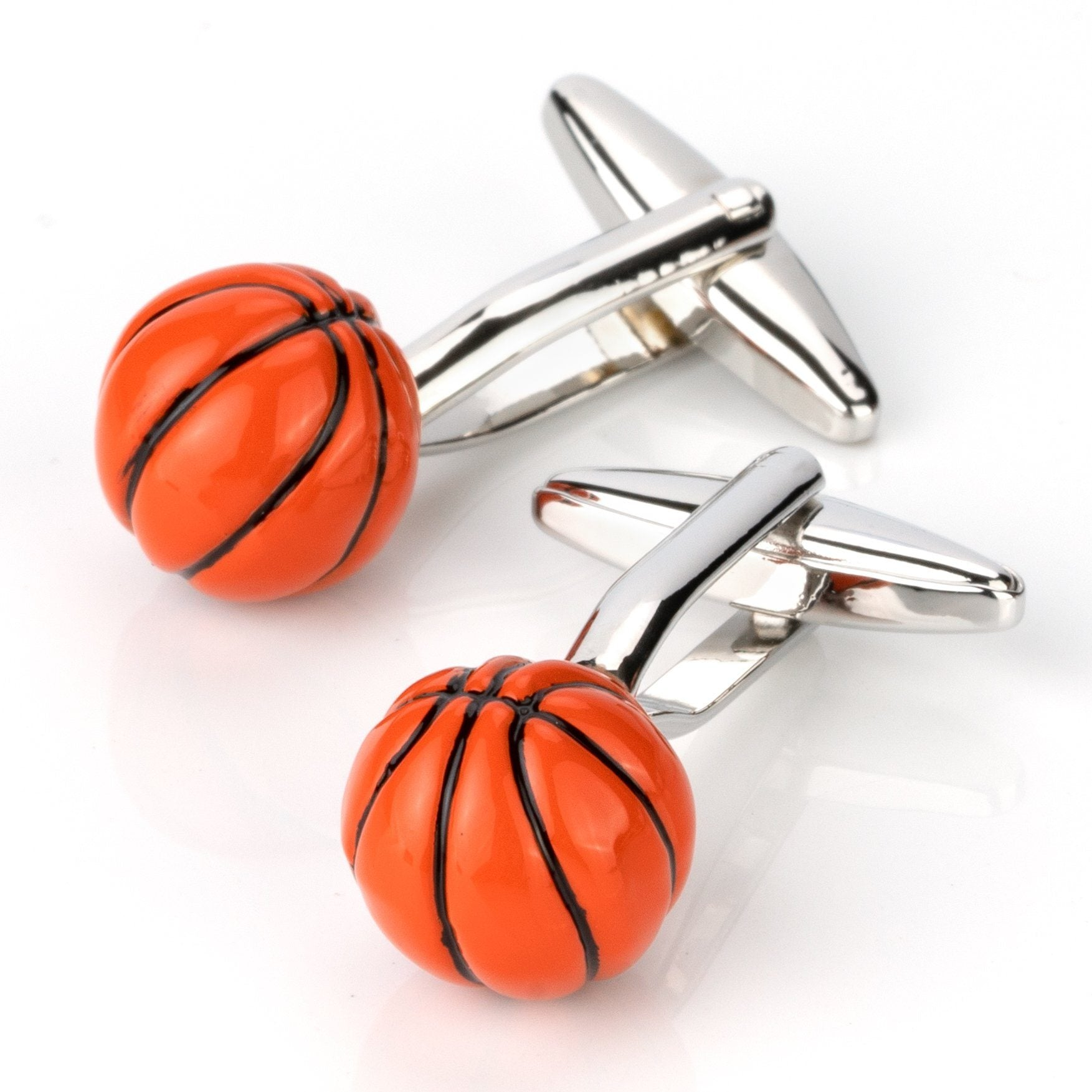 Orange/Black Basketball Cufflinks