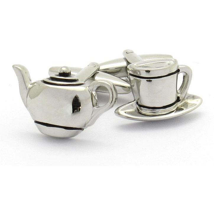 Teapot and Cup Cufflinks Clinks Australia