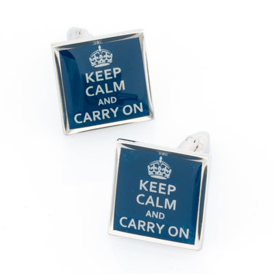 Keep Calm and Carry On Cufflinks Novelty Cufflinks Clinks Australia