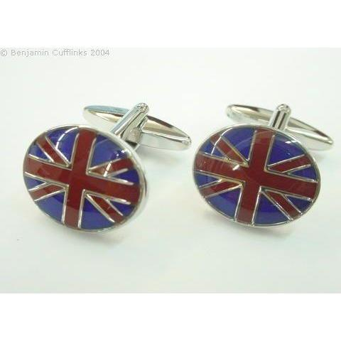 The Union Jack Flag Cufflinks (Round), Novelty Cufflinks, Cuffed.com.au, ZBC2896, $38.50