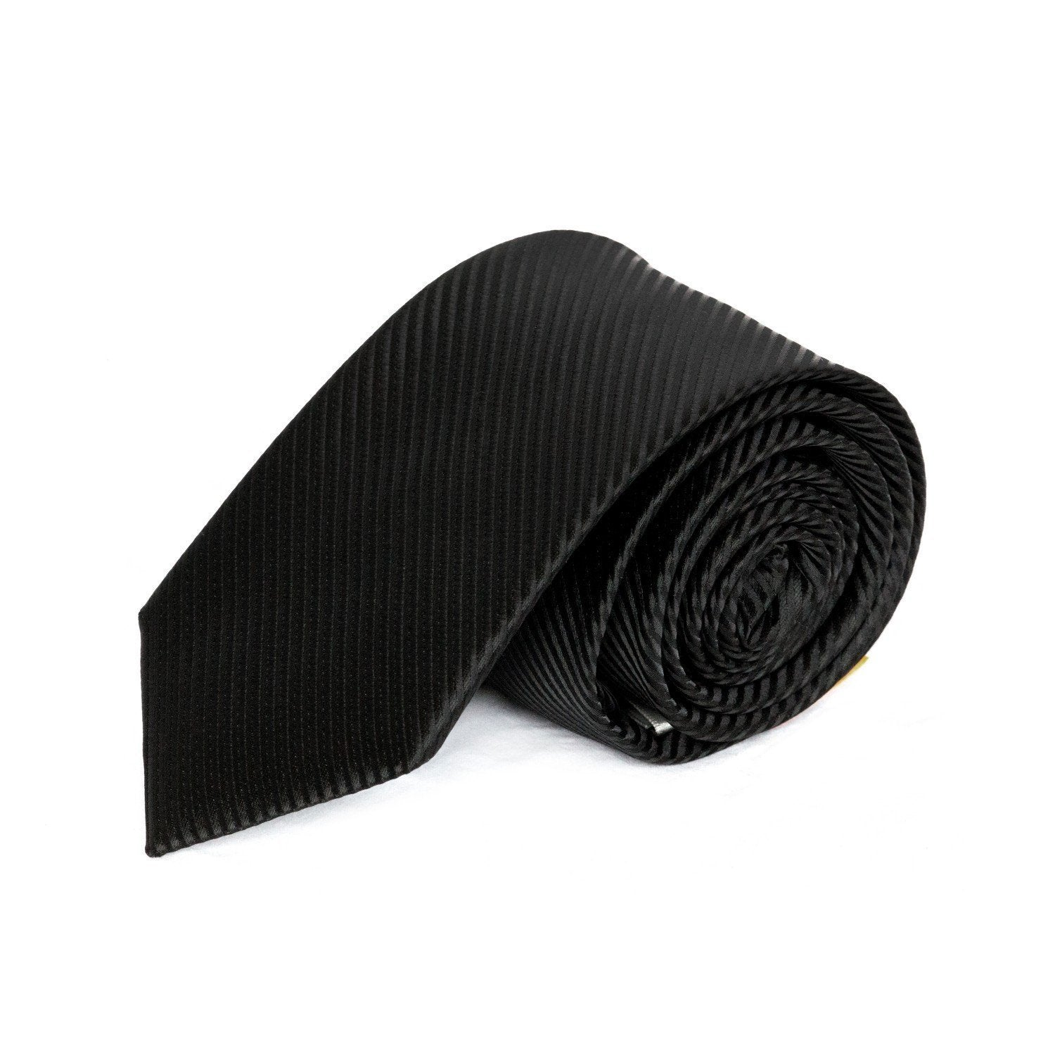 Black Diagonal Textured MF Tie