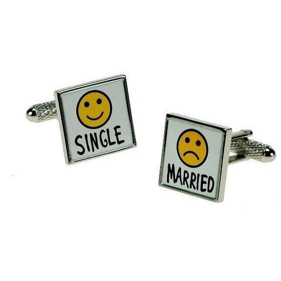 Two States of Being Cufflinks, Wedding Cufflinks, Cuffed.com.au, ZBC2970, $38.50