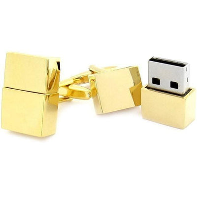 USB 4Gb Flash Drive Cufflinks in Gold Novelty Cufflinks Clinks Australia USB 4Gb Flash Drive Cufflinks in Gold
