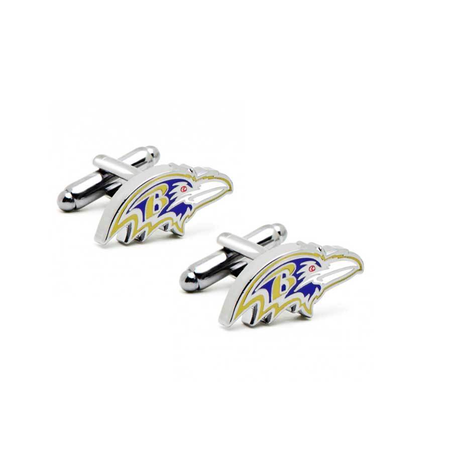 Baltimore Ravens Head Cufflinks , Novelty Cufflinks , CL5997 ,  Mens Cufflinks , Cufflinks , Cuffed , Clinks , Clinks Australia