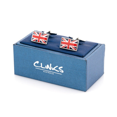 Flag of the United Kingdom - Union Jack Cufflinks Novelty Cufflinks Clinks Australia