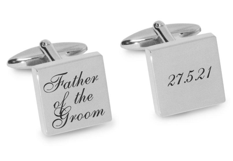Father of the Groom Wedding Date Cufflinks Engraving Cufflinks Clinks Australia Silver Black