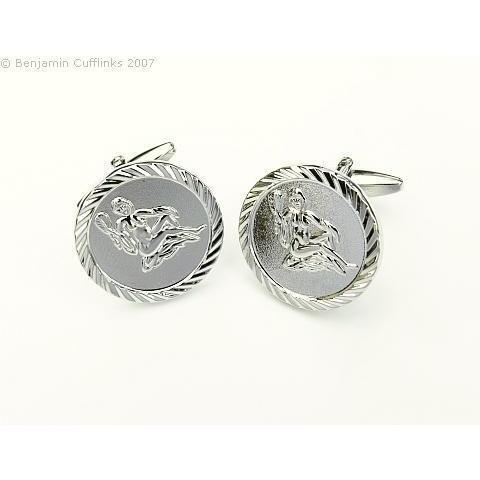 Virgo Virgin Cufflinks (Round), Novelty Cufflinks, Cuffed.com.au, ZBC3001, $36.30