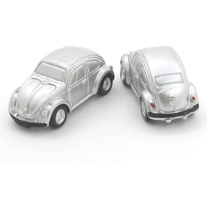 VW Beatles Silver Cufflinks, Novelty Cufflinks, Cuffed.com.au, CL6510, $29.00