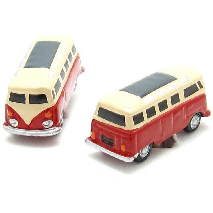 VW Kombi Van Red Cufflinks, Novelty Cufflinks, Cuffed.com.au, CL6516, $29.00