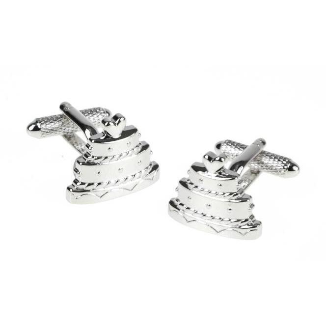 Wedding Cake Cufflinks, Novelty Cufflinks, Cuffed.com.au, ZBC3015, $38.50