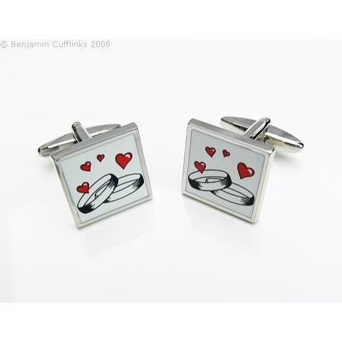 Wedding Ring Cufflinks, Wedding Cufflinks, Cuffed.com.au, ZBC3016, $44.00