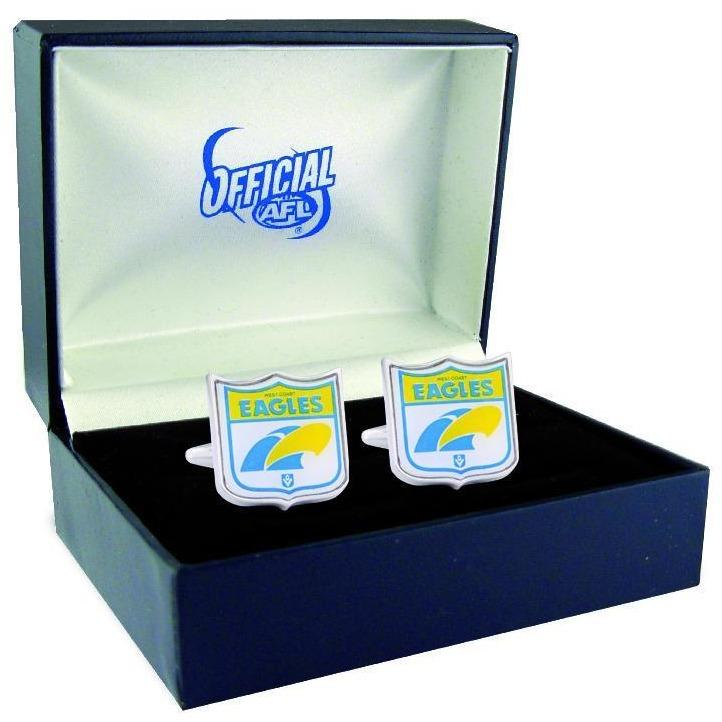 West Coast Eagles Heritage AFL Cufflinks, Novelty Cufflinks, Cuffed.com.au, CL5082, $69.95
