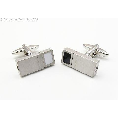 With a Twist Cufflinks - Black & White Classic & Modern Cufflinks Clinks Australia With a Twist Cufflinks - Black & White