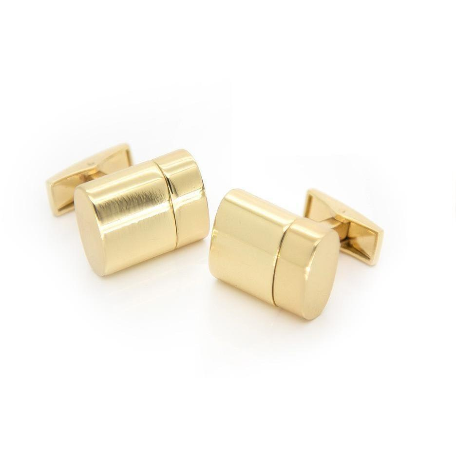Working USB Cufflinks 32Gb Oval Flash Drive in Gold, Novelty Cufflinks, Cuffed.com.au, CL5512, $69.00