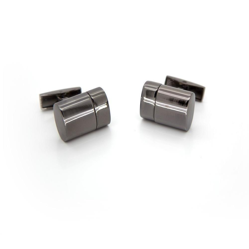 Working USB Cufflinks 32Gb Oval Flash Drive in Gunmetal, Novelty Cufflinks, Cuffed.com.au, CL5511, $79.00