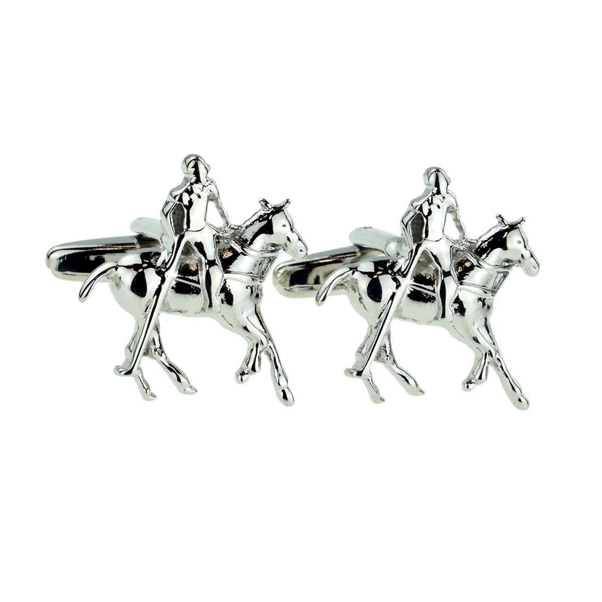Horse Mounted Polo Player Cufflinks, Novelty Cufflinks, Cuffed.com.au, ZBC1973, $36.30