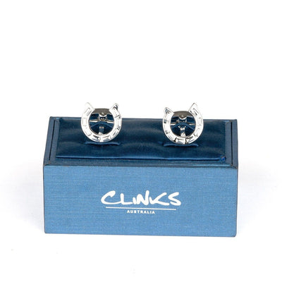 Silver Horseshoe Cufflinks Novelty Cufflinks Clinks Australia