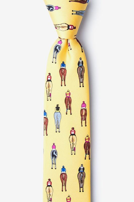 Bringing Up the Rear Yellow Skinny Tie