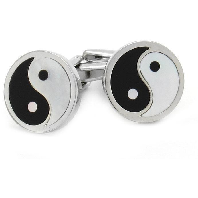 Yin and Yang Cufflinks, Novelty Cufflinks, Cuffed.com.au, CL8323, $29.00