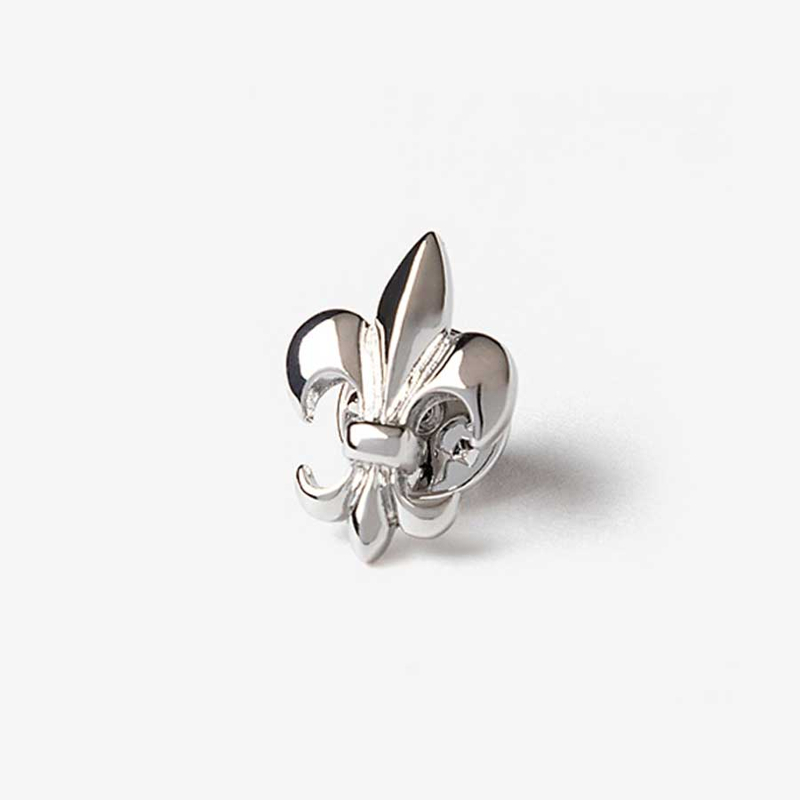 Fleur De Lis Lapel Pin in Silver Lapel Pin Clinks Australia Default