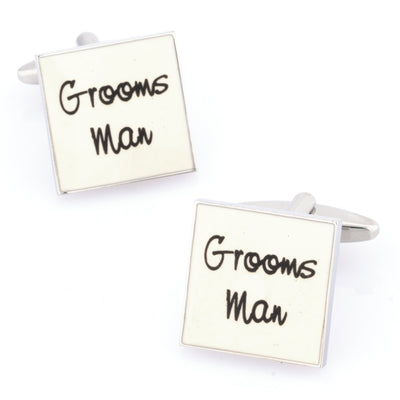 Groomsman White Cufflinks Wedding Cufflinks Clinks Australia Groomsman White Cufflinks