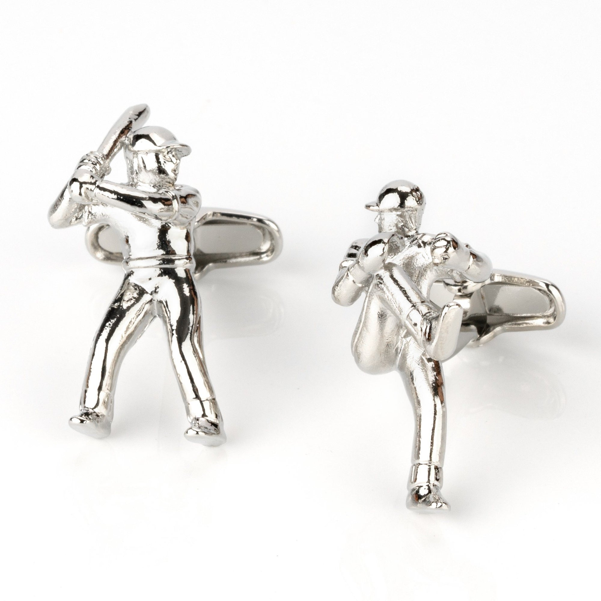 Baseball Pitcher and Batter Cufflinks, Novelty Cufflinks, Cuffed.com.au, CL4000, Sports, Clinks Australia