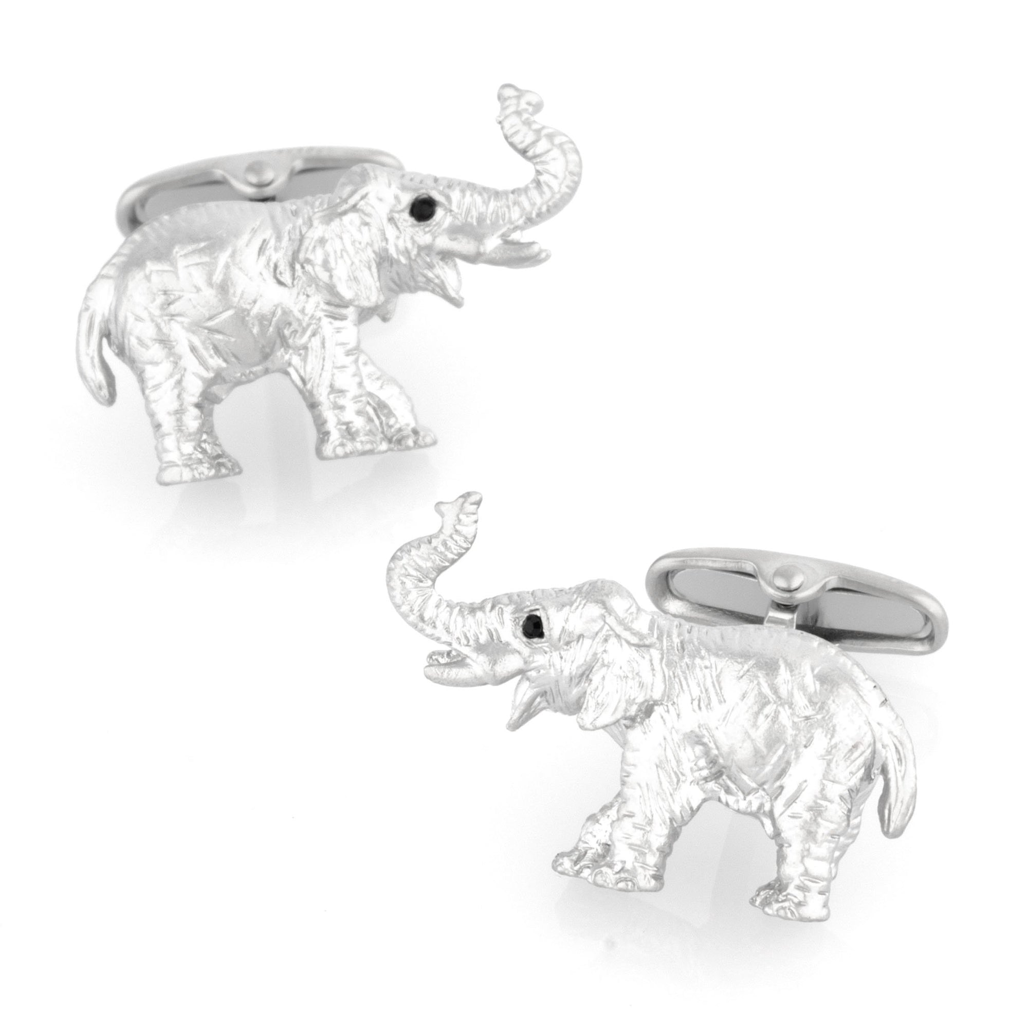 Brushed Silver Elephant Cufflinks Novelty Cufflinks Clinks Australia Brushed Silver Elephant Cufflinks