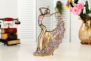 NEWQZ Resin Ballerina Dancer Figurine for Home Decor,House Improvement Ornaments Decorative Statues, Gift for Friends