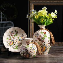 NEWQZ Chinese Porcelain Vases Set of 3-Piece with Flowers Pattern Design for Home Decor