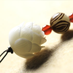 Retro White Bodhi Lotiform Decorative Accessories