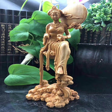 The Goddess of The Moon Chang E Wooden Sculpture