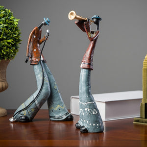 Creative Art Band Musicians figurines Ornaments, Coffee Shop /Bar /Living Room TV Cabinet /Bedroom Decoration