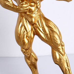 Body Building Men's Trophy, Body Art Decoration for Home Decor, Metal Cup for Body Building Talent