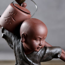 Chinese Kung Fu Tea Show Ceramic Kung Fu Monk Tea Culture Backflow Incense Burner