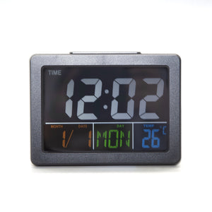 Voice-control Night Light Colorful Screen Digital Alarm Clock, Easy To Read and Use
