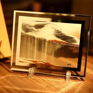 3D Falling Sand Art Dynamic Sandscapes Craft Ornaments, Satisfying Glass Crafts for Home Decor