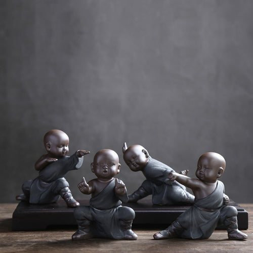 Cool Decorative Collectibles, Chinese Kung Fu Monk Figurines In The Popular Video