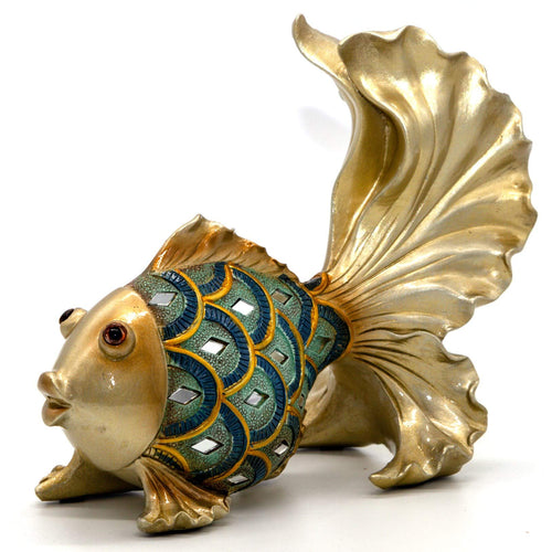 NEWQZ American Rural Resin Animal Goldfish Model Home Collectibles Desktop Ornament Gifts