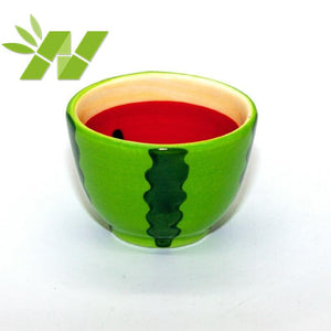 NEWQZ Adorable Watermelon Shaped Tea Set Coffee Cup Set, Afternoon Tea Set with Friends 1 Pot 4 Cup
