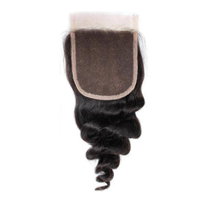 7A 4x4 Lace Closure - Premium Quality Brazilian Real Remy Virgin Human Hair Extension