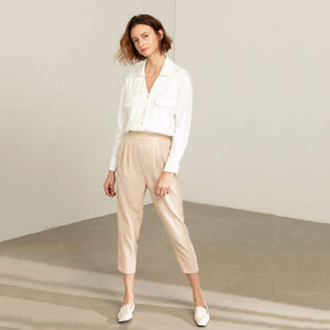 Women with Beige JING Pants