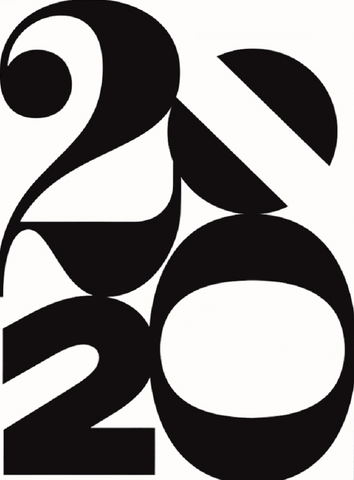 2020 in Black Graphic Lettering