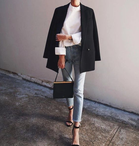 Jeans and Black Blazer